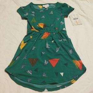 New Lularoe kids mae dress size 4